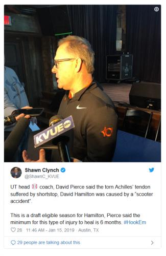 David Hamilton, Texas Baseball and Scooters | Schuelke Law